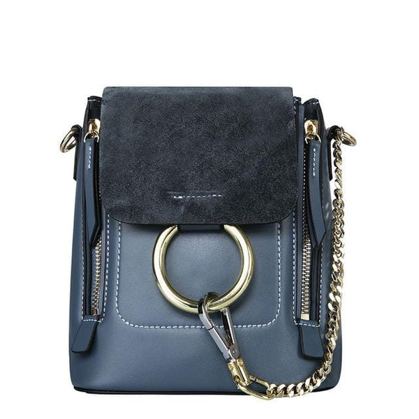 Kara Blue Leather&Suede Bag