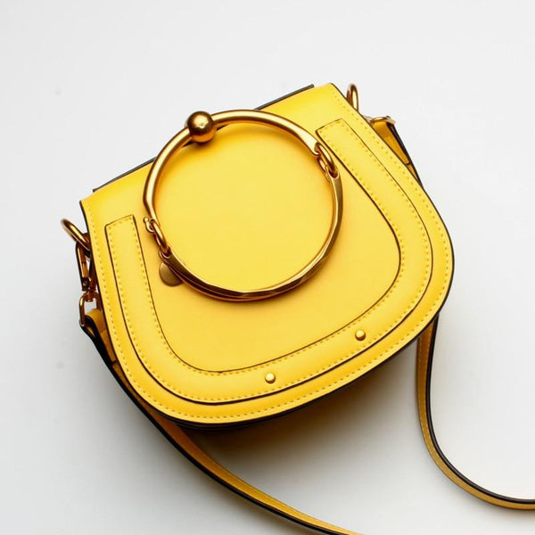 Tizzo Dome Bag Yellow Leather