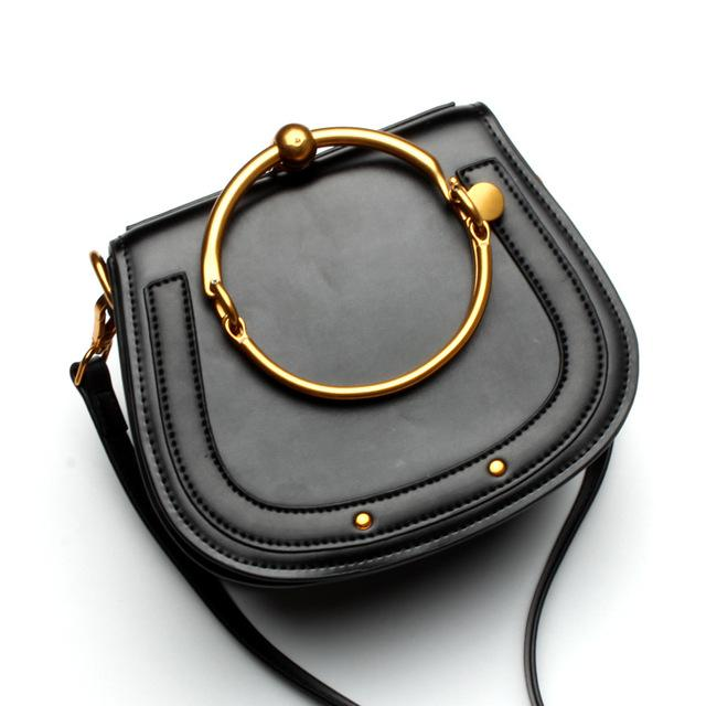 Tizzo Dome Bag Black Leather
