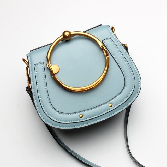 Tizzo Dome Bag Bluebell Leather