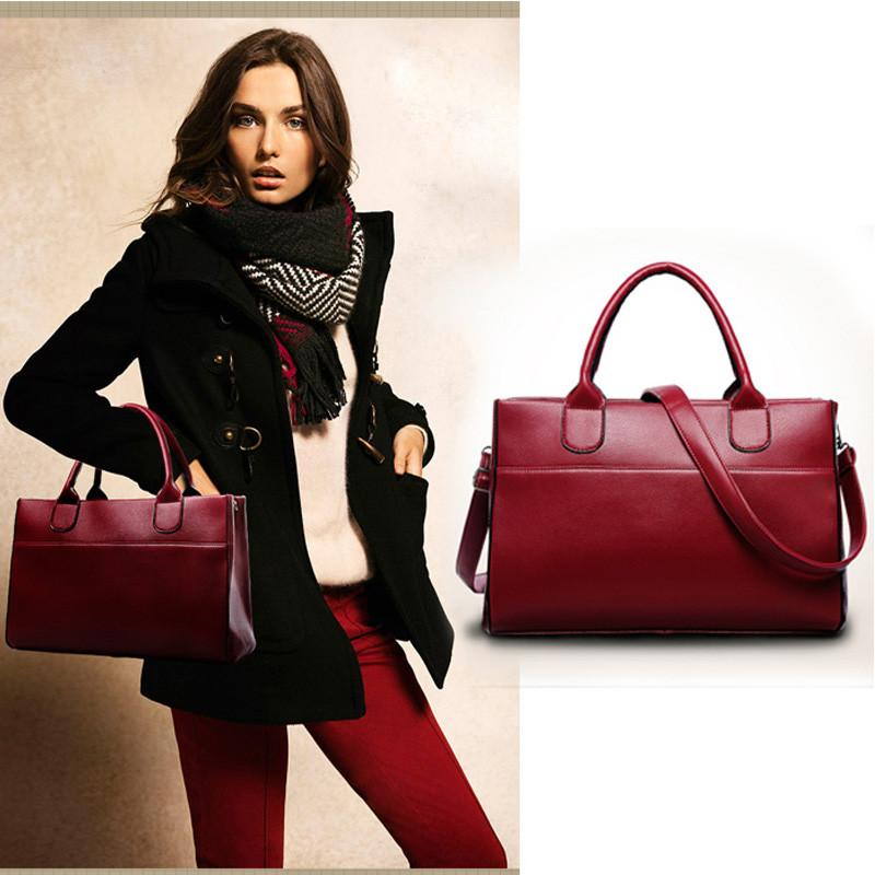 Lara Satchel Red Leather