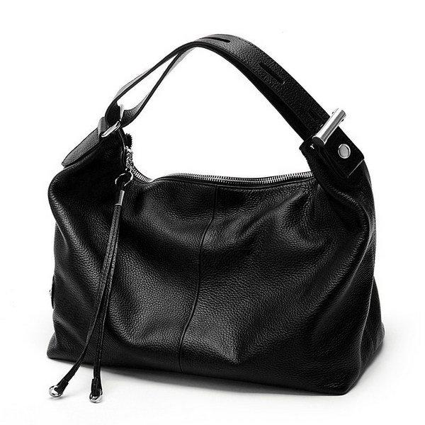 Issey Shopper Black Leather