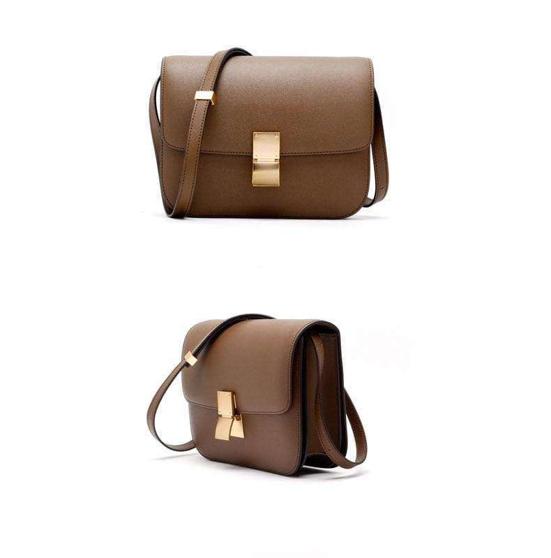 Ava Box Caramel Leather Bag