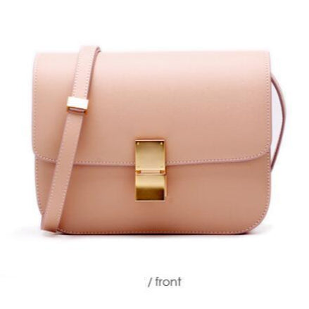 Ava Box Nude Pink Leather Bag