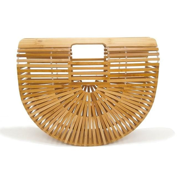 Bamboo Beige Beach Clutch