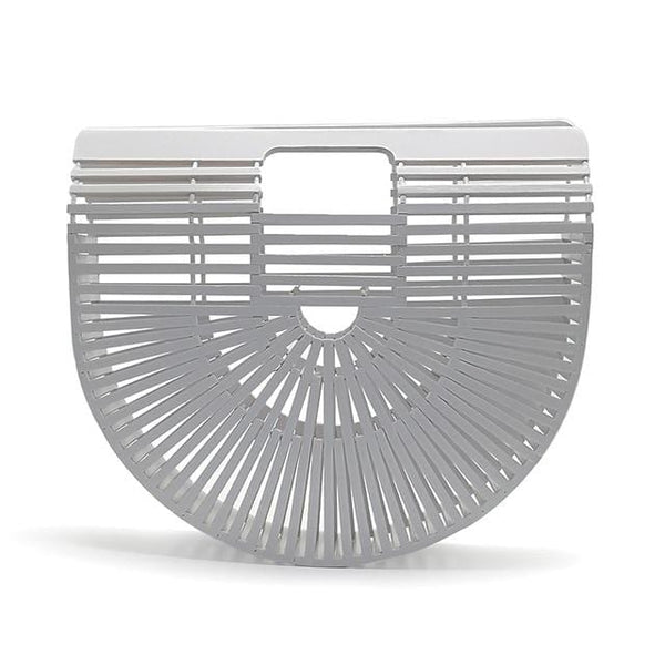 Bamboo White Beach Clutch