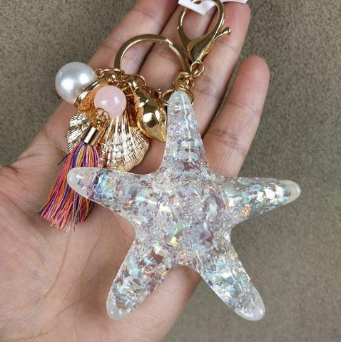 Crystal Starfish Bag Charrm
