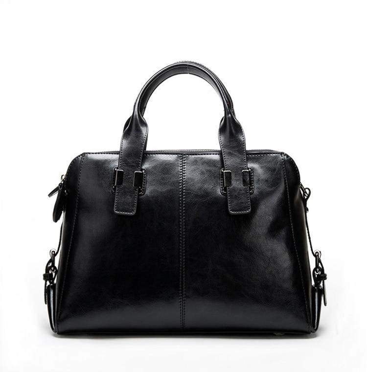 Arden Satchel  Black Leather