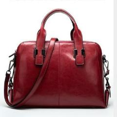 Arden Satchel Red Wine Leather