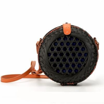 Coachella Rattan Black Bag