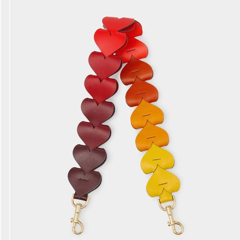 Color Hearts Knitted Leather Strap