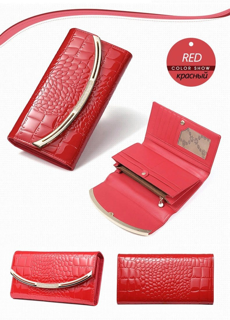 Drew Wallet-Clutch Red Leather
