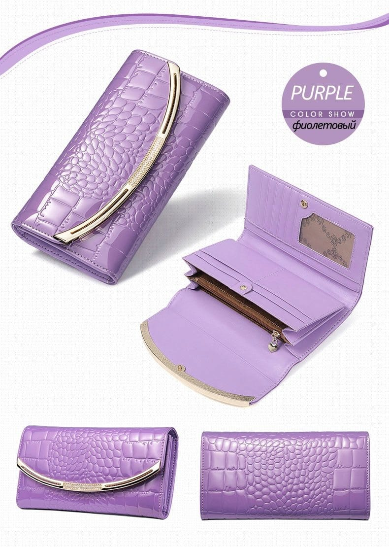 Drew Wallet-Clutch Lilac Leather