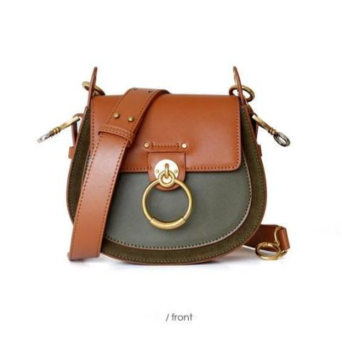 Mizza Olive Dome Leather Bag