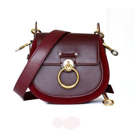 Mizza Burgundy Dome Leather Bag