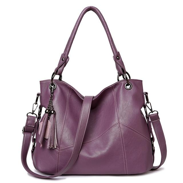 Karlie Tote Lila Leather