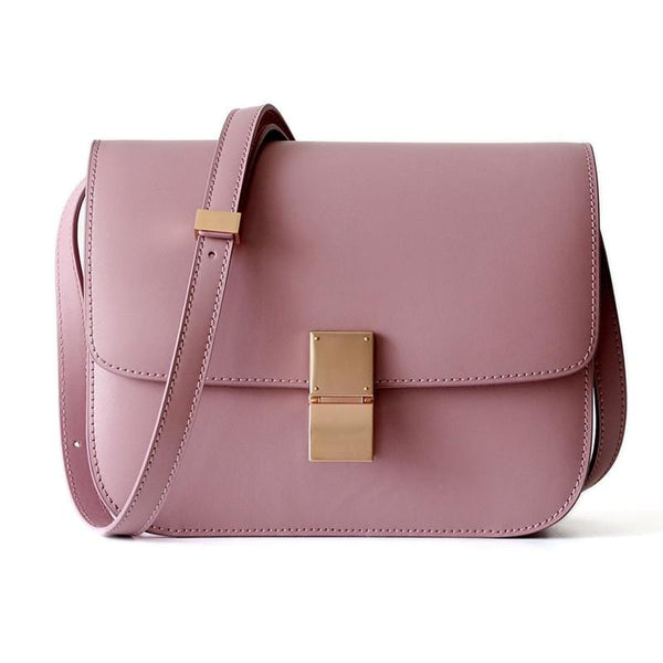 Ava Box Pink Leather Bag