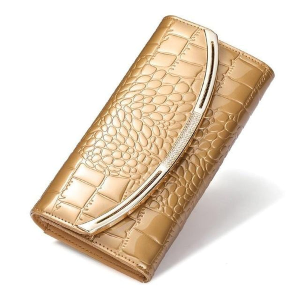 Drew Wallet-Clutch Gold Leather