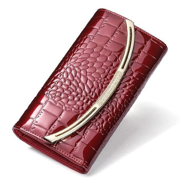 Drew Wallet-Clutch Wine Leather