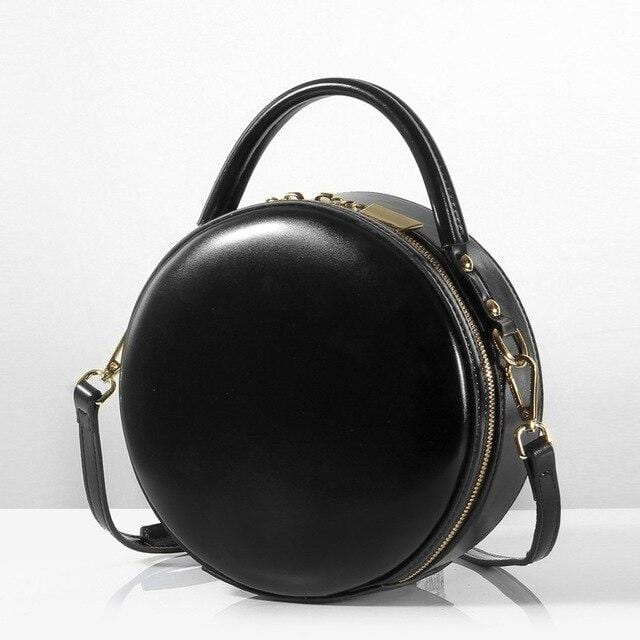 Sirio Dome Bag Black Leather