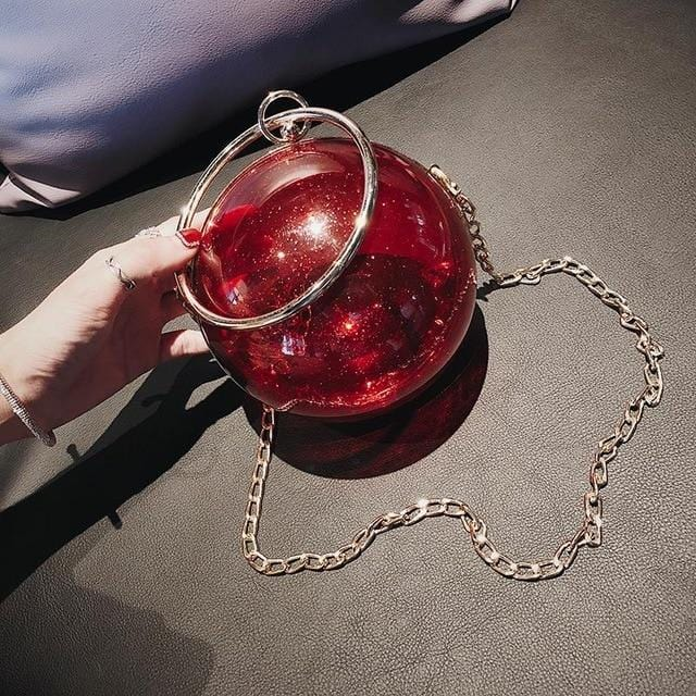 Crystal Ball Statement Red Bag