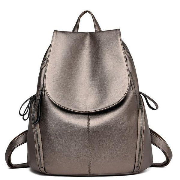 Tyra Bronze Leather Backpack