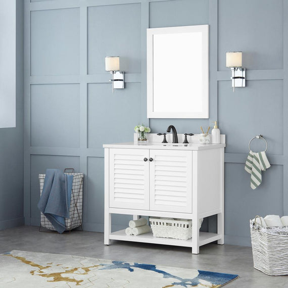 Home Decorators Collection Grace 36 In W X 22 In D Bath Vanity In Wh Decohub Home Outlet Store