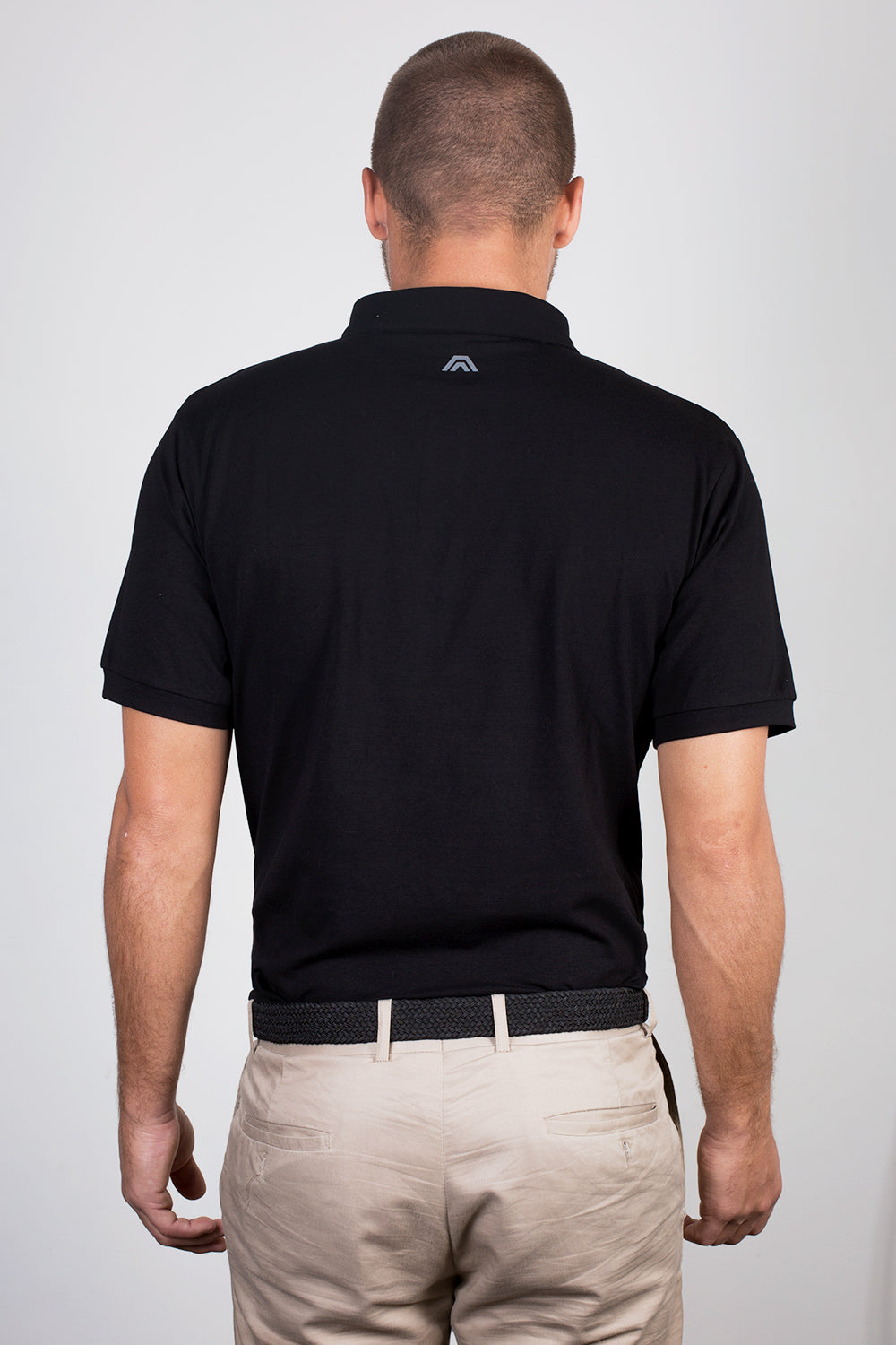 midnight black, aces original, golf apparel, golf clothing, polo, athletic fit, premium quality, style fused with performance, affordable, aces