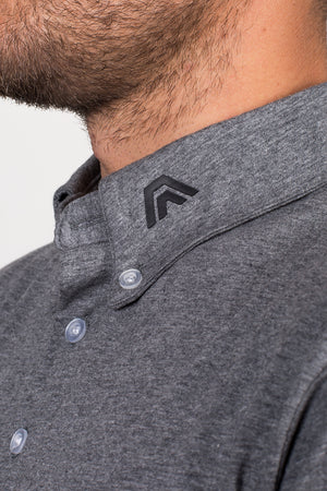 granite grey, aces original, golf apparel, golf clothing, polo, athletic fit, premium quality, style fused with performance, affordable, aces