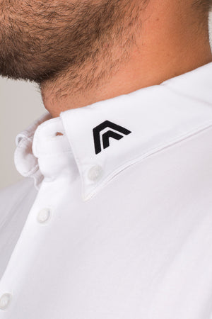 frost white, aces original, golf apparel, golf clothing, polo, athletic fit, premium quality, style fused with performance, affordable, aces