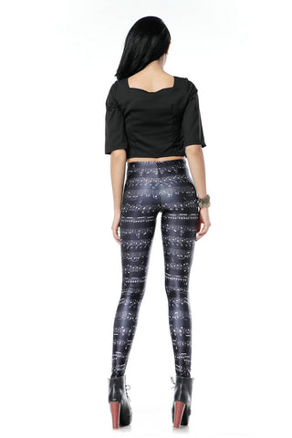 Music Notes Leggings