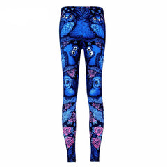 Blue Midnight Owl Leggings