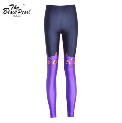Purple Cats Leggings