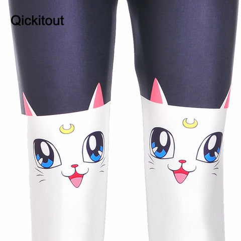 White Cat Leggings