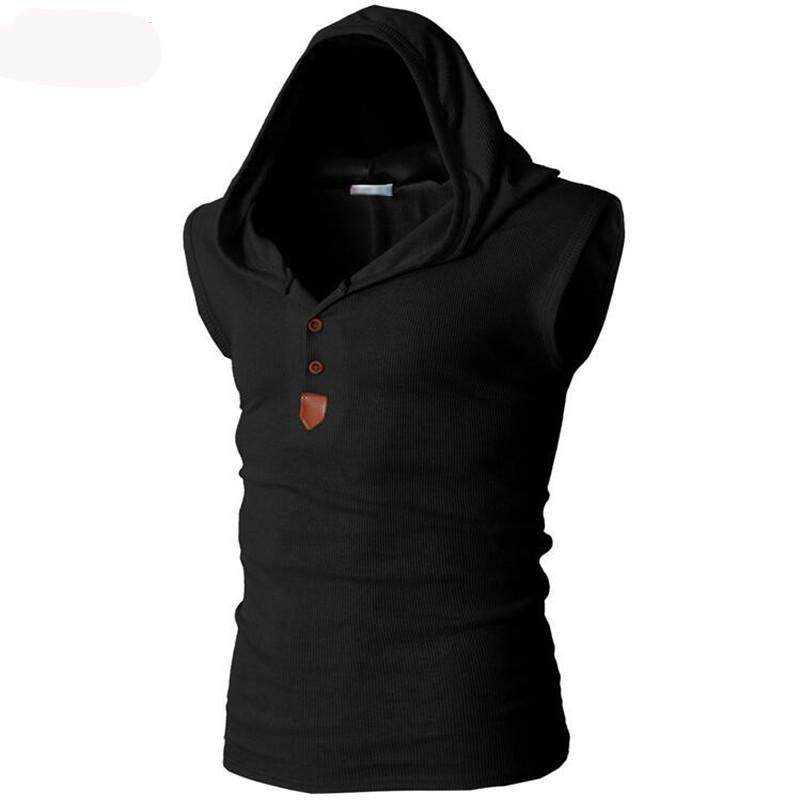 Men's Sleeveless Fitness Hoodie