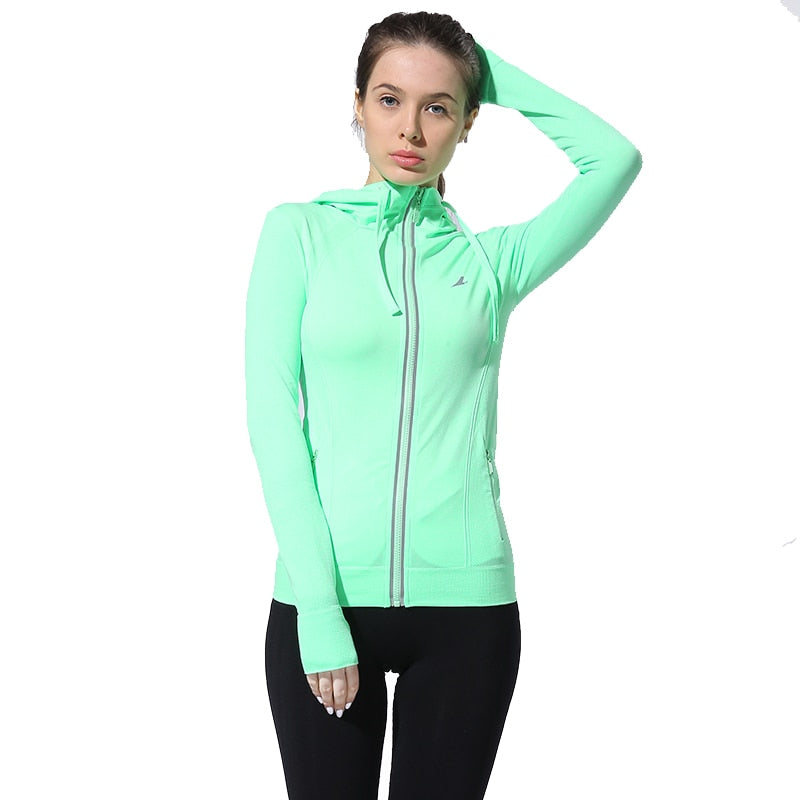 Women's Running and Fitness Long Sleeve Sports Jacket - Tops - Active Gear Depot