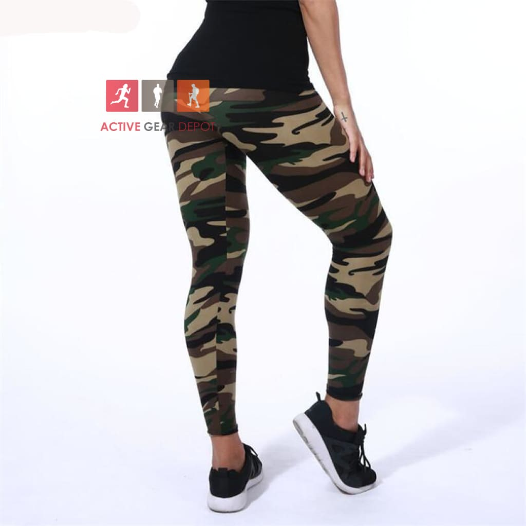 CAMO LEGGENZ - Women's Gym and Fashion Leggings. - Active Gear Depot