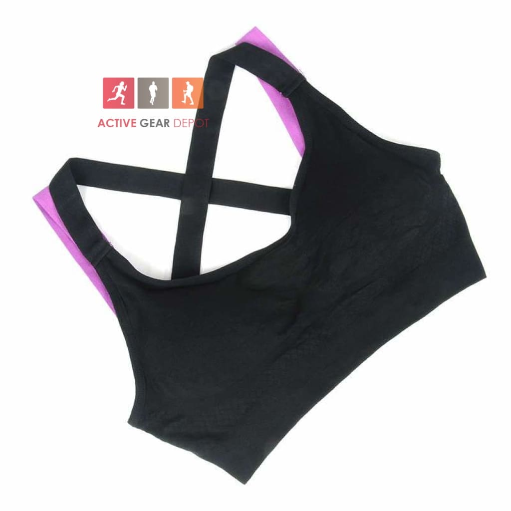 752918a8068de Hi Tek Cross Strap Fitness Sports Bra – Active Gear Depot