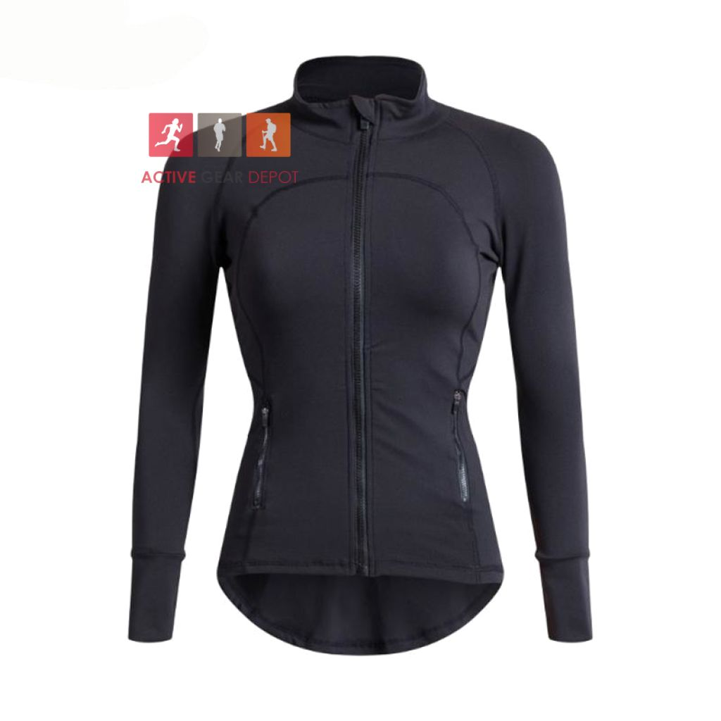 Stylish Womens Long Sleeve Running Jacket - Active Gear Depot