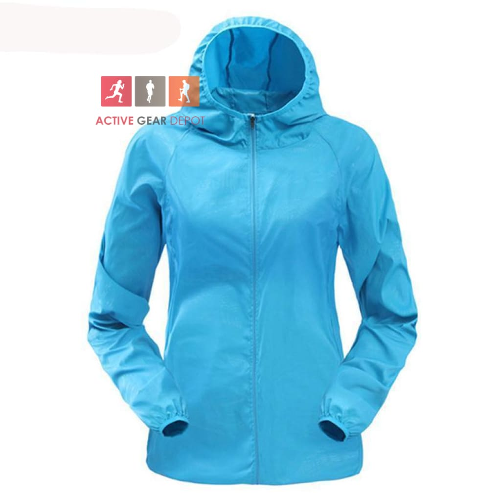 Ultra light Hooded Womens Windbreaker Running Jacket - Active Gear Depot