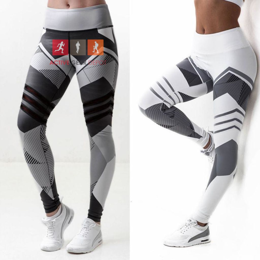 Women's Geometric Design  - Fitness Leggings - Active Gear Depot