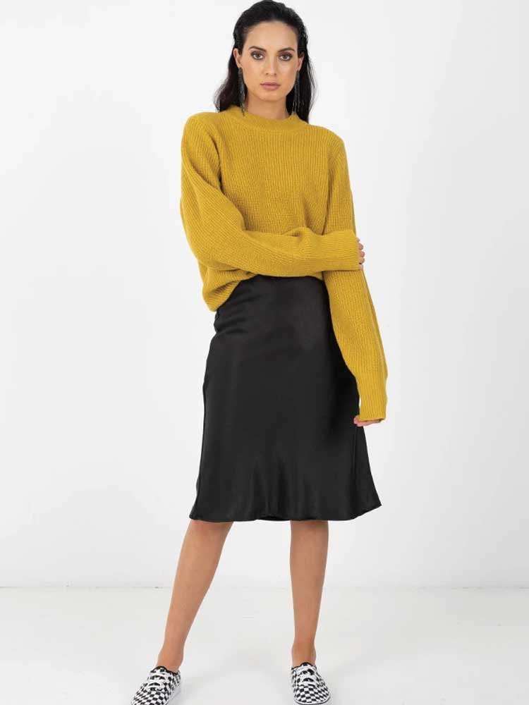 Bias Skirt black