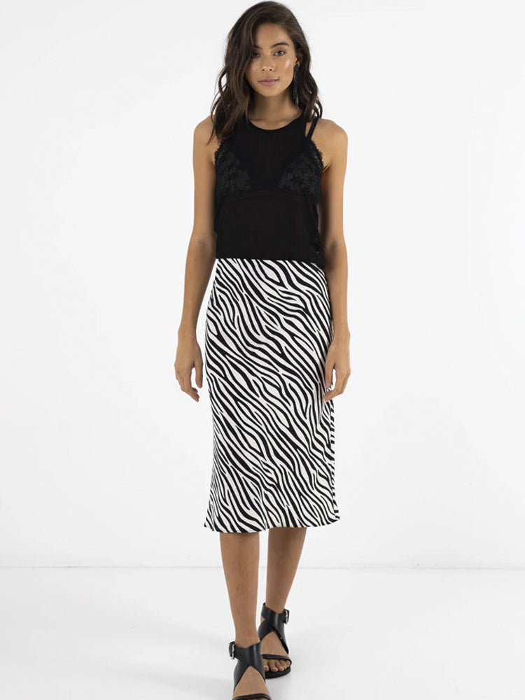 Bias Skirt / Zebra