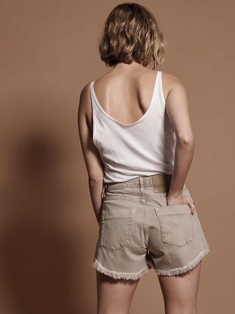 Coffee Canvas Trucker Relax Shorts