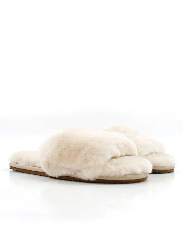 Thick Strap Slipper Ivory
