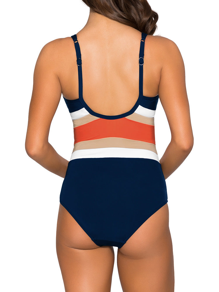 E_F Underwire Red One Piece