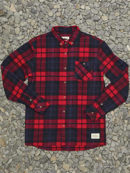 Boatyard Shirt Navy/Red check
