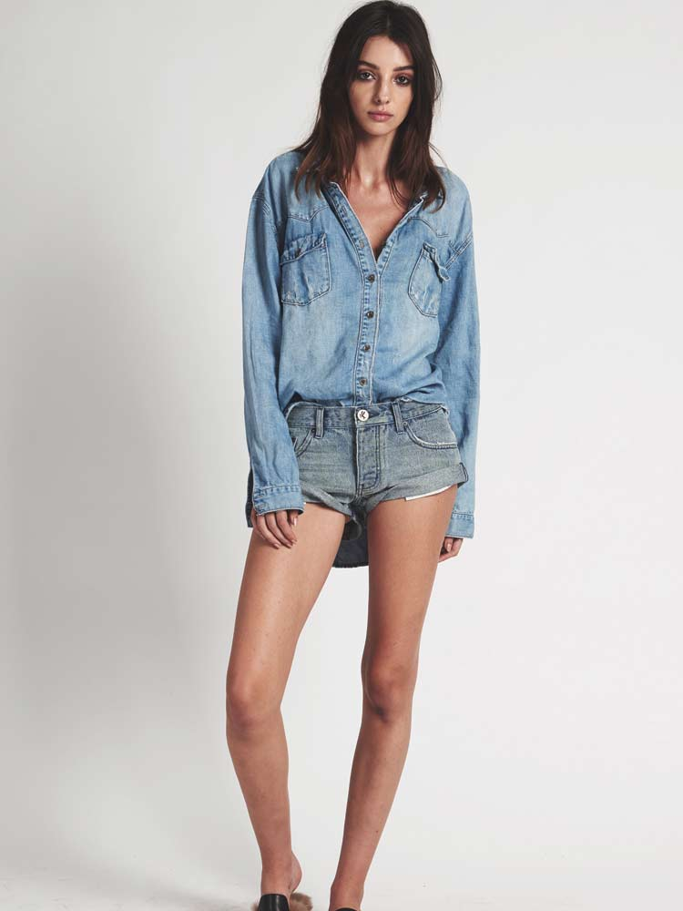 Bandits Denim Short Blue Storm