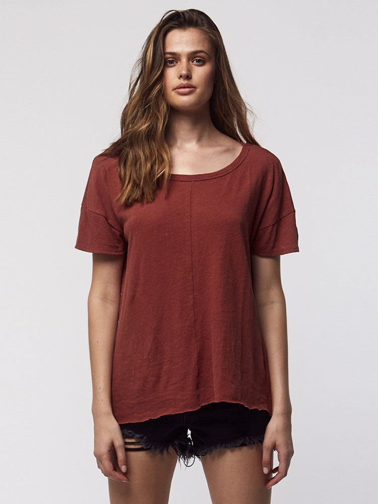 Palm Embro Slouch Tee