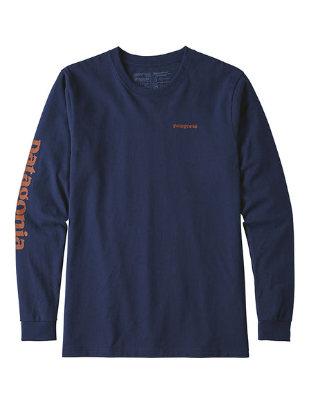 Mens Longsleeve text Logo Cotton/Responsibility Tee